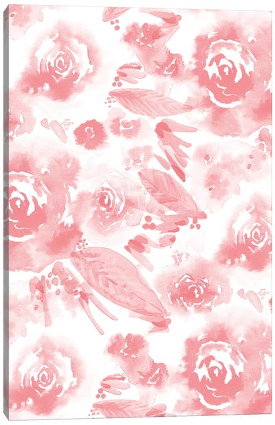 Blush Flowers Canvas Art Print
