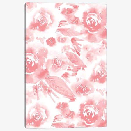 Blush Flowers Canvas Print #SBE9} by Sara Berrenson Canvas Print