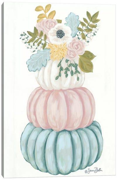 Floral Pumpkins Canvas Art Print