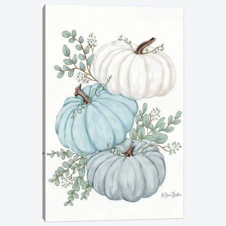 Pumpkin Trio Canvas Print #SBK20} by Sara Baker Canvas Print