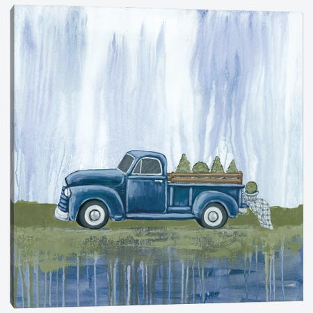 Blue Garden Truck Canvas Print #SBK23} by Sara Baker Art Print