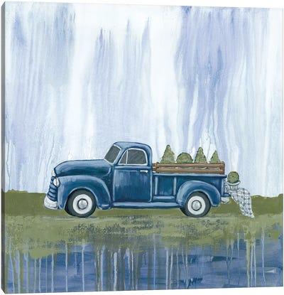 Blue Garden Truck Canvas Art Print