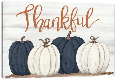 Thankful Pumpkins     Canvas Art Print