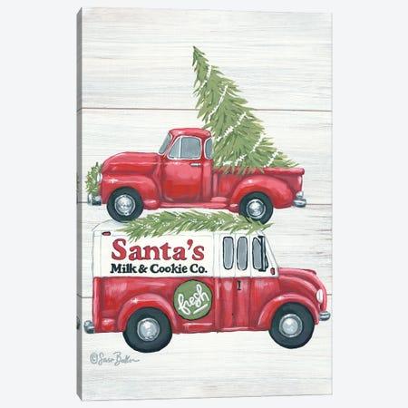 Santa's Milk and Cookie Co. Canvas Print #SBK30} by Sara Baker Canvas Art