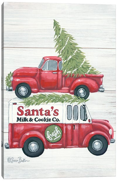 Santa's Milk and Cookie Co. Canvas Art Print
