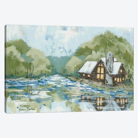 Adventure Lake Canvas Print #SBK32} by Sara Baker Canvas Art