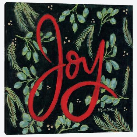 Spruced Up Joy Canvas Print #SBK4} by Sara Baker Canvas Art