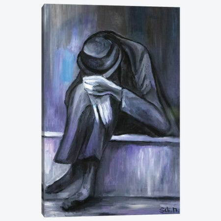 Grey Man Canvas Print #SBM11} by Sebastien Montel Canvas Art