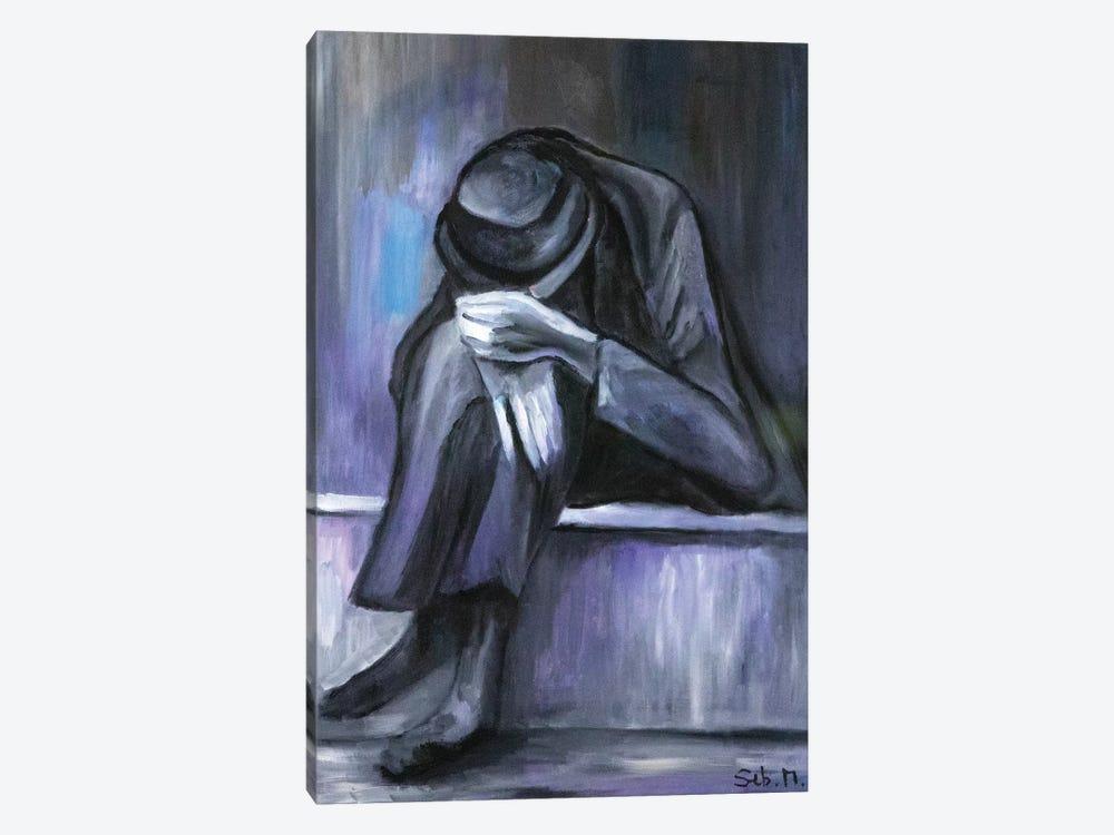 Grey Man by Sebastien Montel 1-piece Canvas Art Print