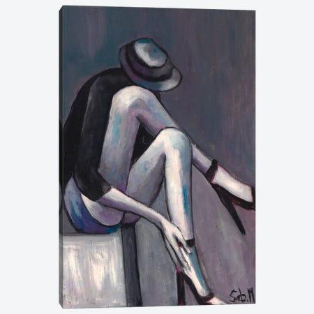 Grey Solitude Canvas Print #SBM12} by Sebastien Montel Canvas Artwork