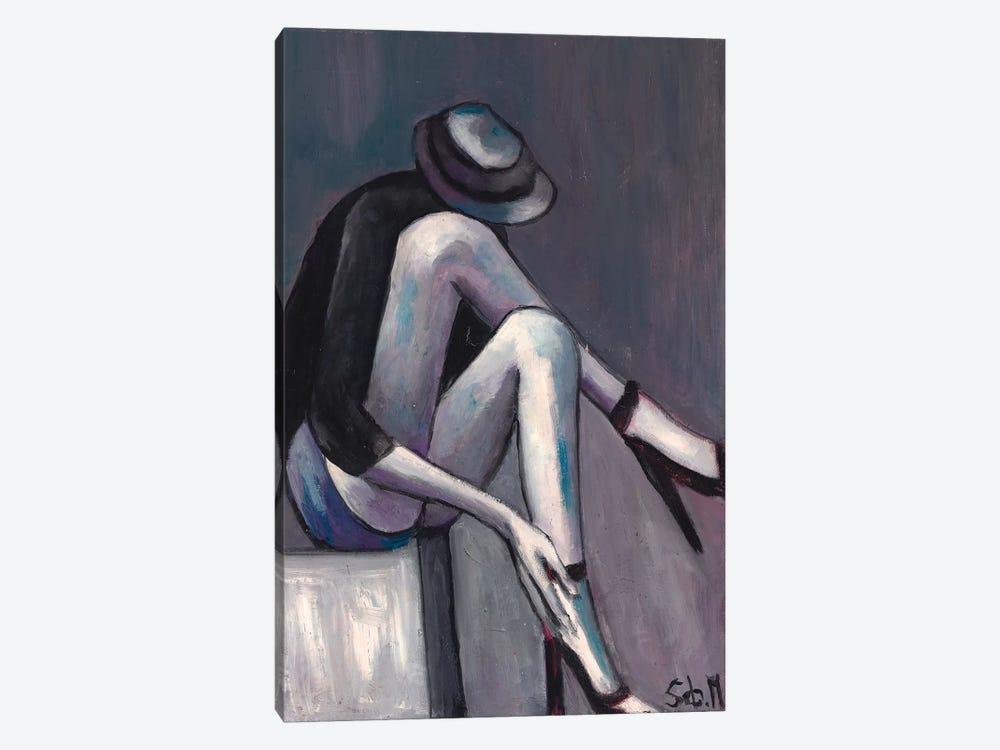 Grey Solitude by Sebastien Montel 1-piece Canvas Wall Art