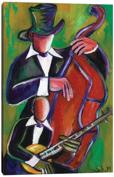 New Orleans Jazz Duo Canvas Art Print