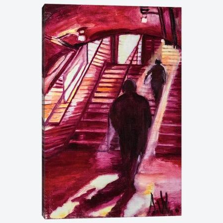 One Night In The Metro Station Canvas Print #SBM15} by Sebastien Montel Canvas Print