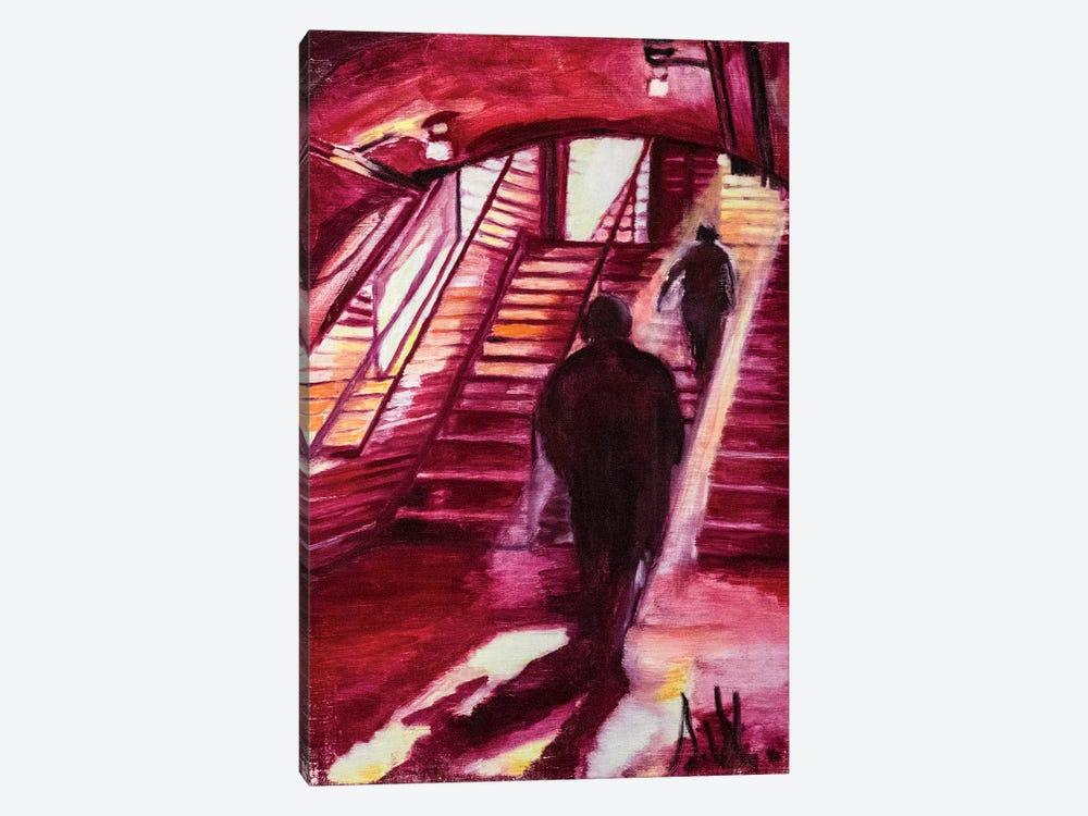 One Night In The Metro Station by Sebastien Montel 1-piece Art Print