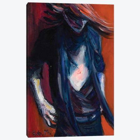Rebel Girl Canvas Print #SBM18} by Sebastien Montel Canvas Art