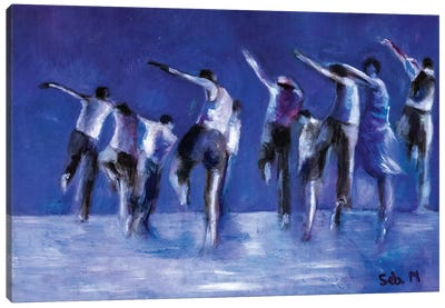 Blue Dance Troop Canvas Art Print