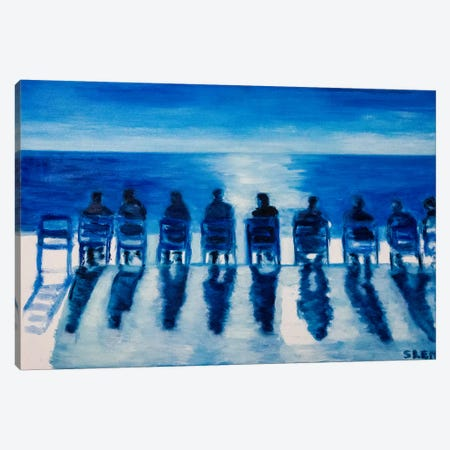 Sunday On The Promenade des Anglais Canvas Print #SBM20} by Sebastien Montel Canvas Art Print