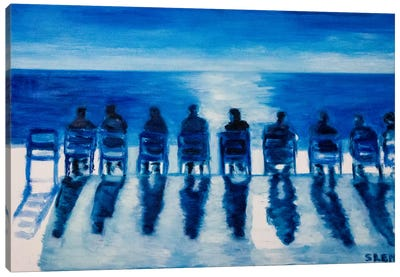 Sunday On The Promenade des Anglais Canvas Art Print