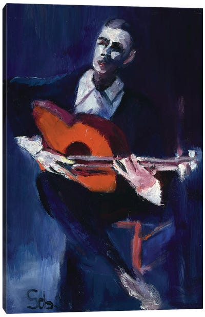 The Guitarist Canvas Art Print