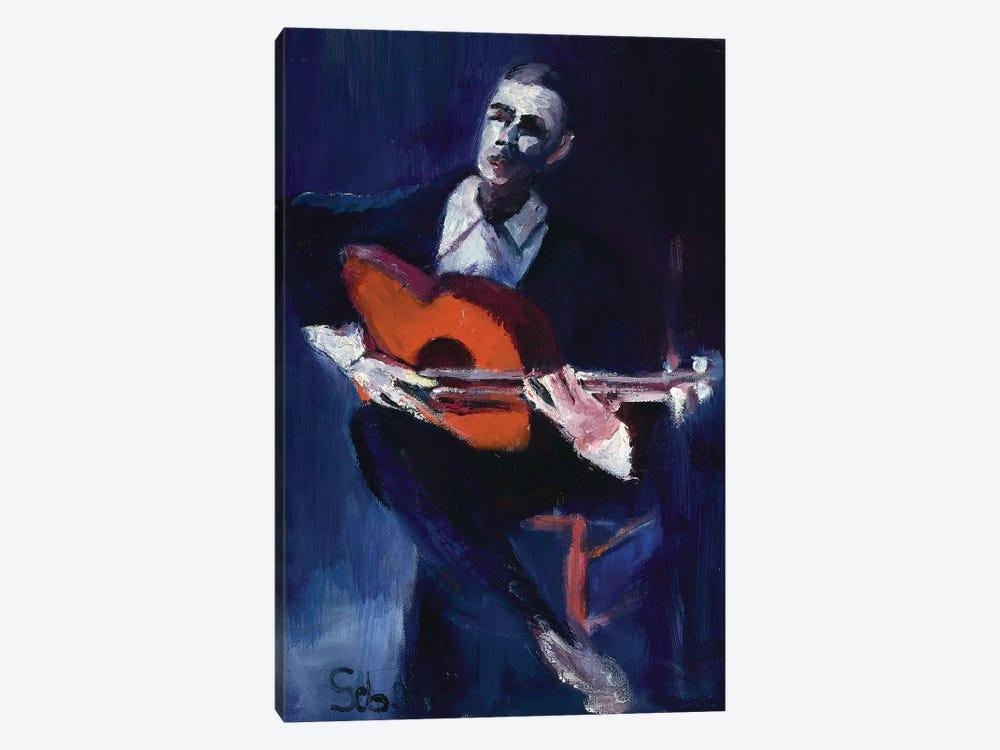 The Guitarist by Sebastien Montel 1-piece Canvas Print