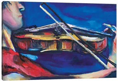 The Violinist Canvas Art Print