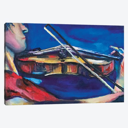 The Violinist 3-Piece Canvas #SBM26} by Sebastien Montel Canvas Artwork