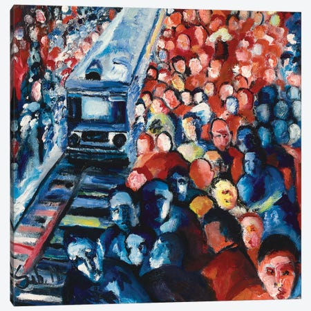 Train Station Canvas Print #SBM27} by Sebastien Montel Canvas Artwork