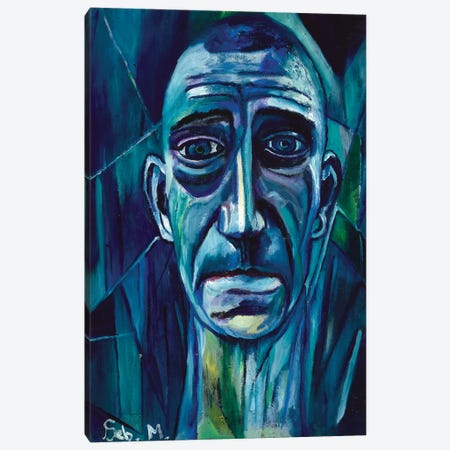 Blue Mood Canvas Print #SBM2} by Sebastien Montel Canvas Art Print