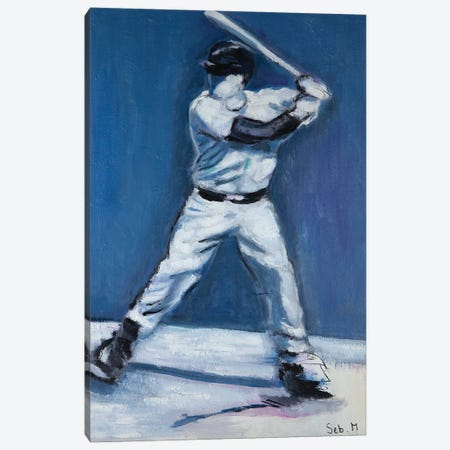 The Batter Canvas Print #SBM33} by Sebastien Montel Canvas Art