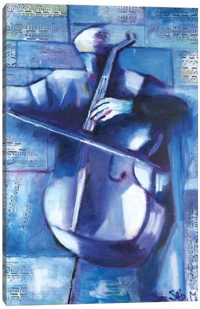 The Cellist Canvas Art Print
