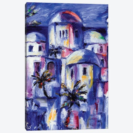 Blue Morocco 3-Piece Canvas #SBM3} by Sebastien Montel Canvas Art Print