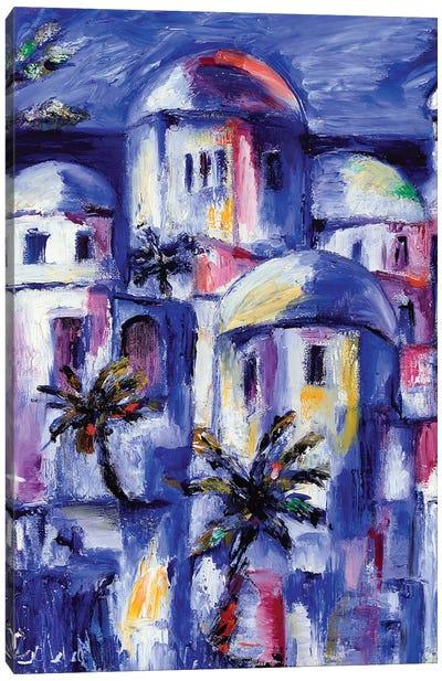 Blue Morocco Canvas Art Print