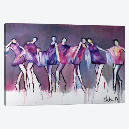 Cabaret 3-Piece Canvas #SBM5} by Sebastien Montel Canvas Artwork