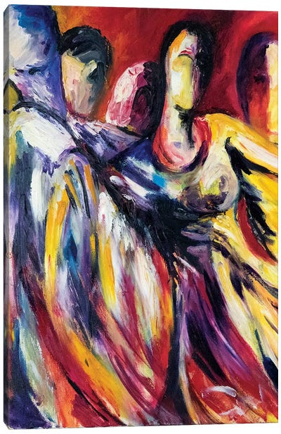 Dancers In Unison Canvas Art Print