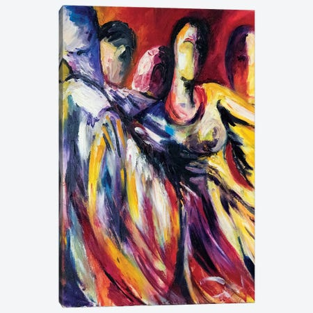Dancers In Unison Canvas Print #SBM7} by Sebastien Montel Canvas Art