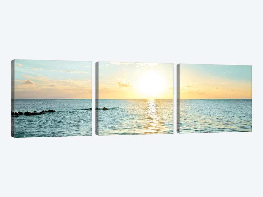 Bimini Horizon I by Susan Bryant 3-piece Canvas Art Print