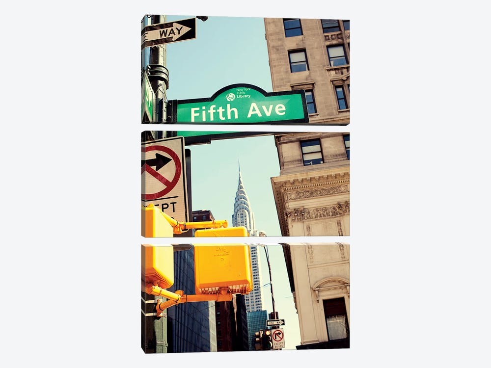 Chrysler and Fifth by Susan Bryant 3-piece Canvas Wall Art