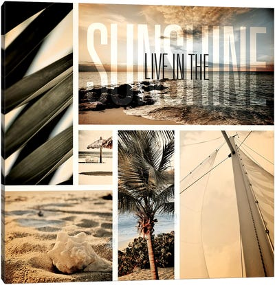 Coastal Collage I Canvas Art Print