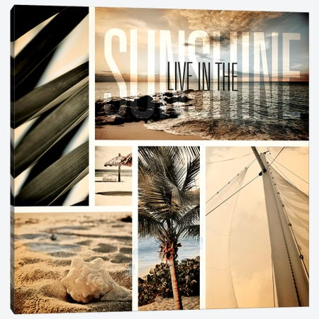 Coastal Collage I Canvas Print #SBT16} by Susan Bryant Canvas Artwork