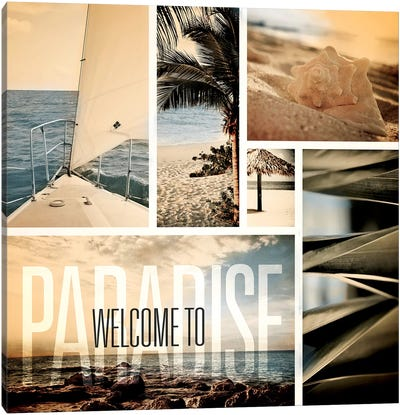 Coastal Collage II Canvas Art Print