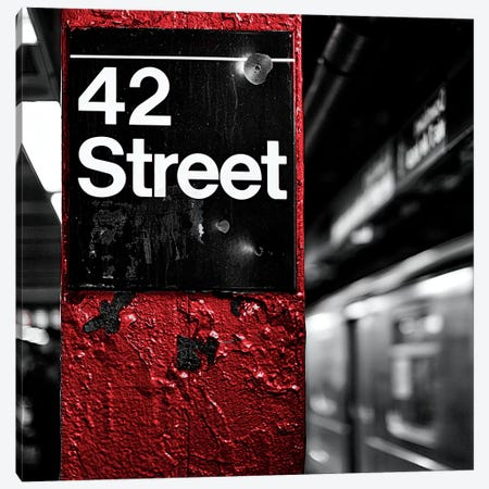 42nd St. Square Canvas Print #SBT1} by Susan Bryant Art Print