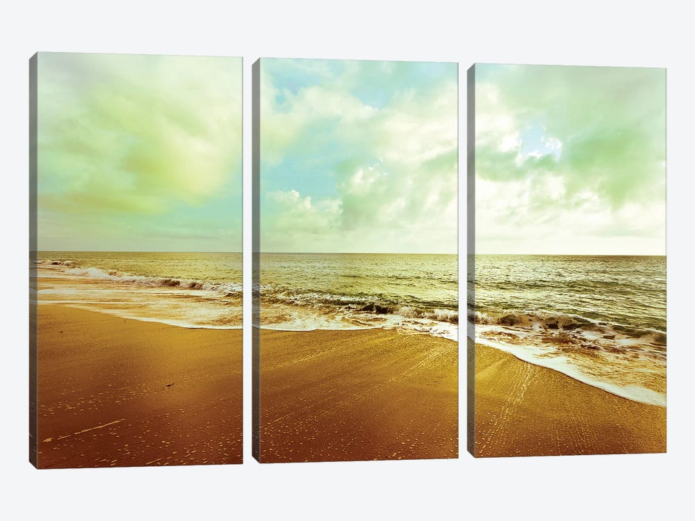 Gold Beach by Susan Bryant 3-piece Canvas Wall Art