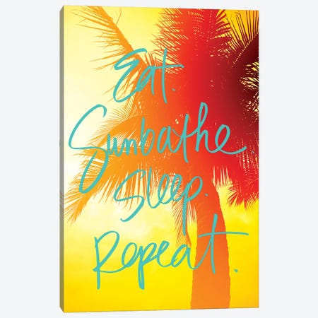 Golden Palm Canvas Print #SBT27} by Susan Bryant Canvas Print
