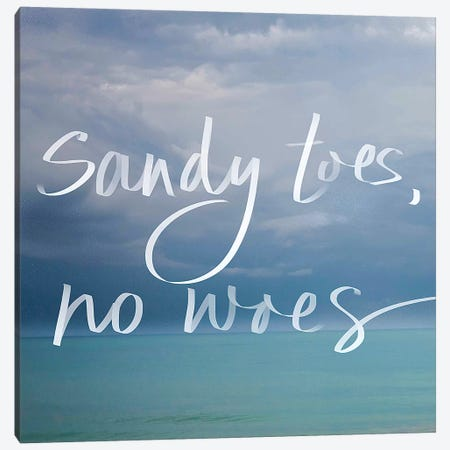 Sandy Toes Canvas Print #SBT41} by Susan Bryant Canvas Art
