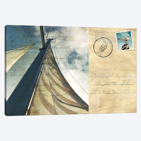 Voyage Postcard II Canvas Print #SBT49} by Susan Bryant Canvas Wall Art