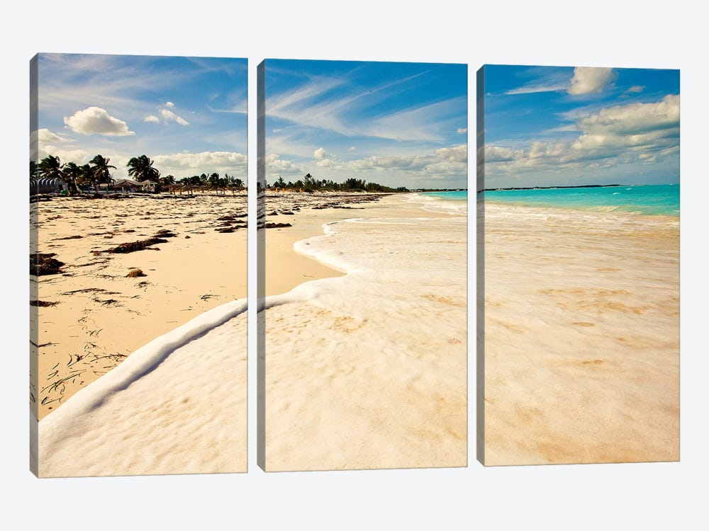 Walking at High Tide 3-piece Canvas Art Print