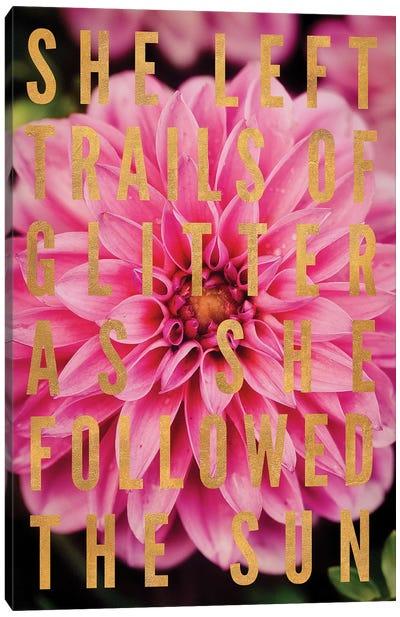Glittery Flower I Canvas Art Print