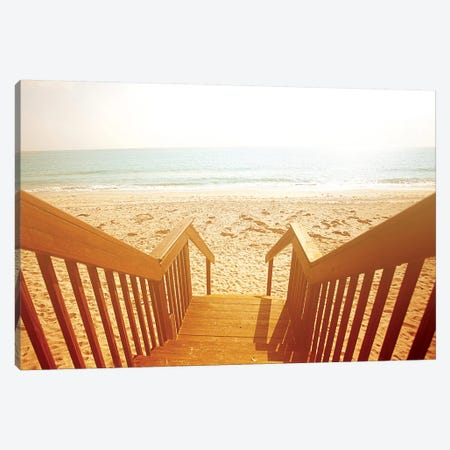 Beach Stairs Canvas Print #SBT6} by Susan Bryant Canvas Art