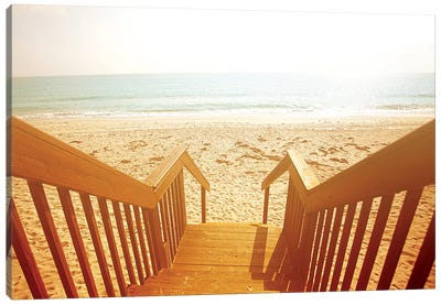 Beach Stairs Canvas Art Print