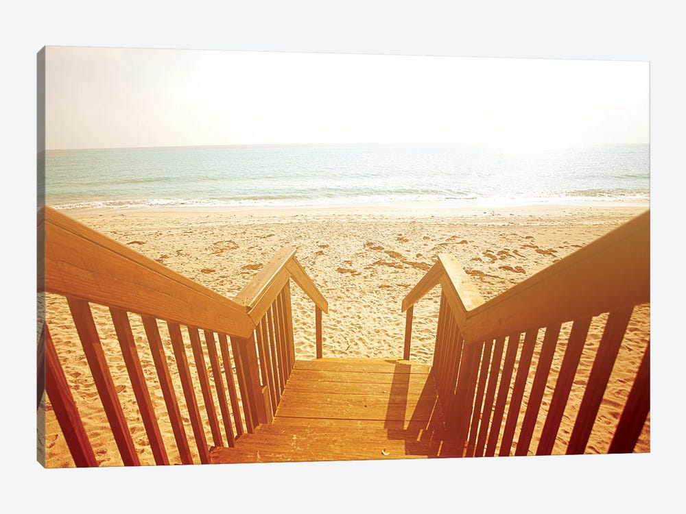 Beach Stairs 1-piece Canvas Wall Art